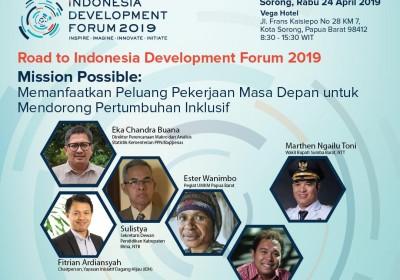 Gelar Diskusi Di Sorong, Bappenas Gali Gagasan Kejar Peluang  Kerja Masa Depan Dan Pertumbuhan Inklusif