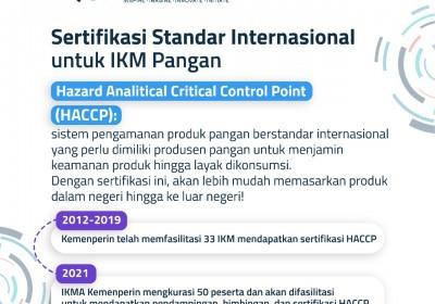 Pemerintah Fasilitasi IKM Pangan Raih Sertifikat Internasional